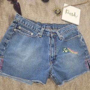 Boho festival embroidered shorts Ralph Lauren